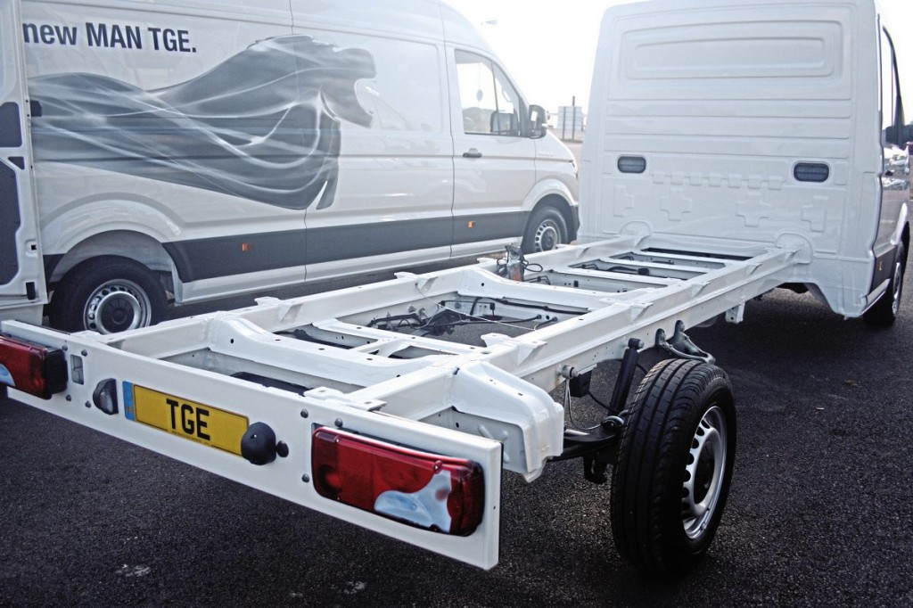 Chassis cab versions of all three wheelbases are available