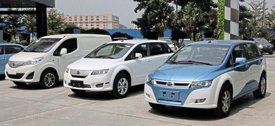 Electric cars and taxis from the BYD range