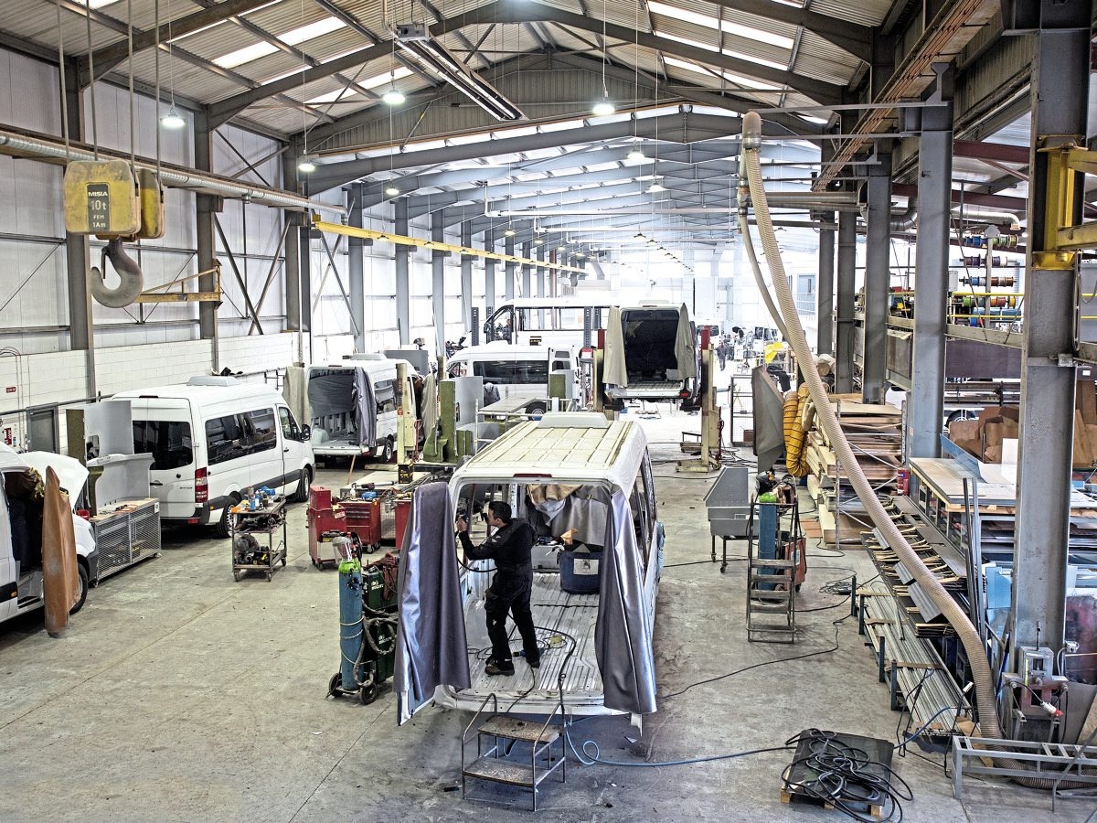 Production is still climbing at EVM, with talk of expanding the building