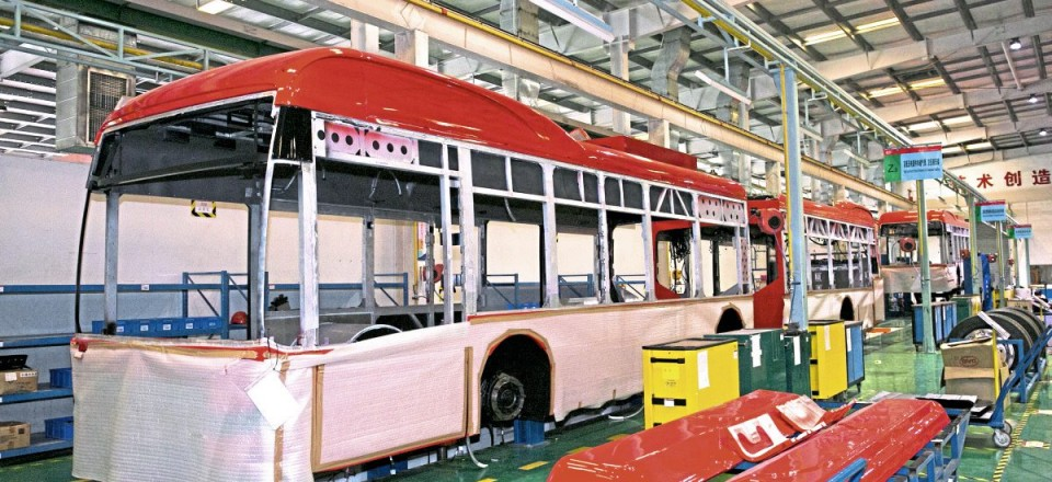 Two 18m K11U pusher articulated electric buses that are to be operated by Nobina in Oslo, Norway