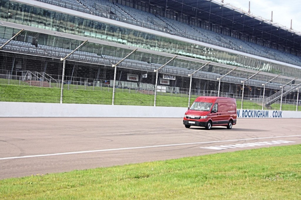 Use of the Rockingham Raceway gave the opportunity for some full speed running
