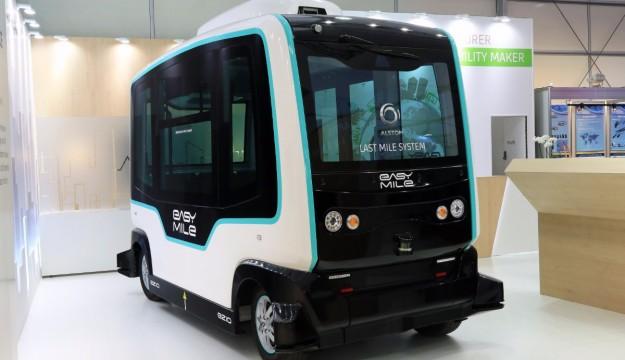 Alstholm Easy Mile autonomous vehicle