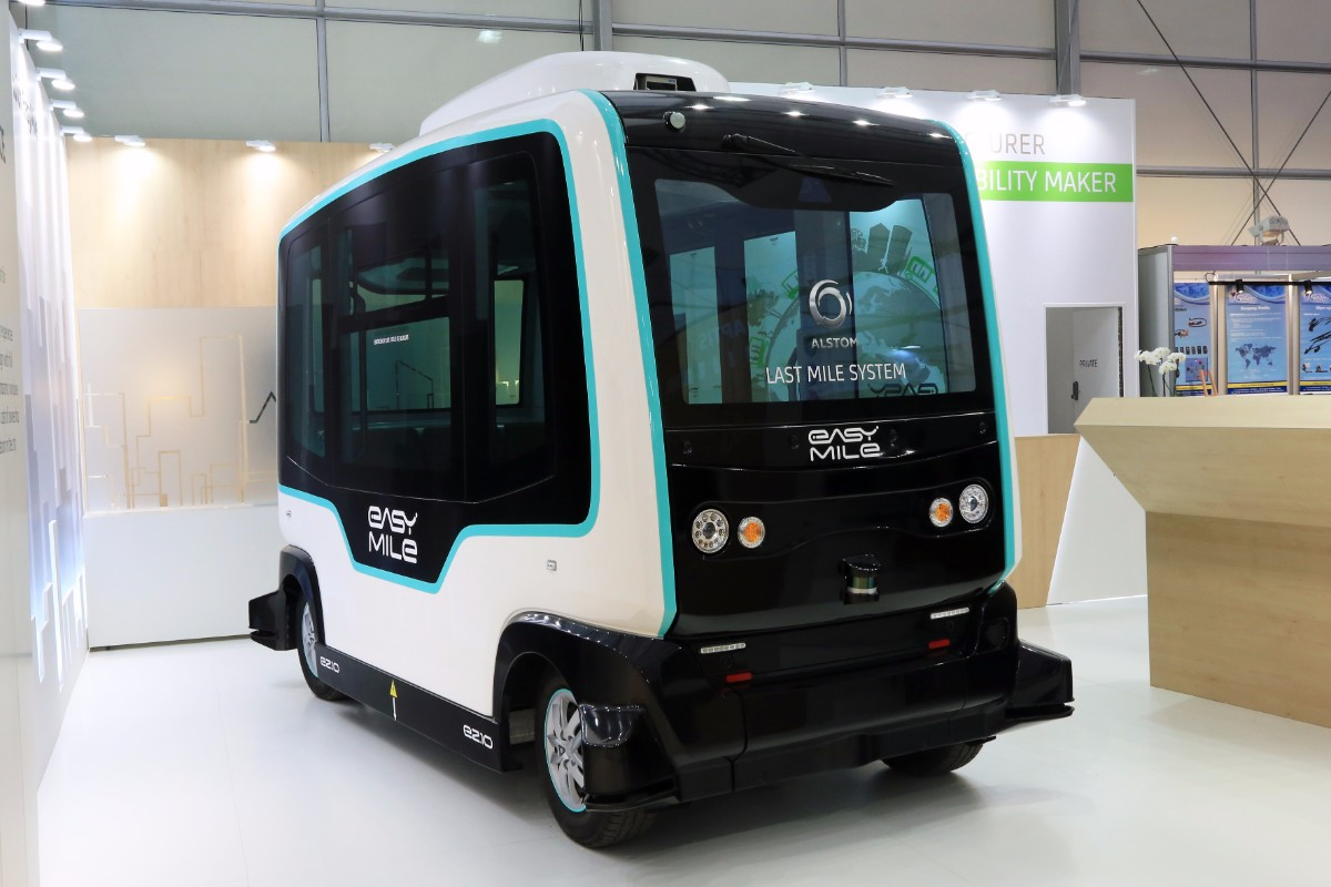 Alstholm Easy Mile autonomous vehicle