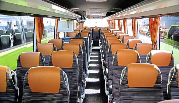 Despite it being as basic a Tourismo as you can buy in Germany, the interior of this 12m three-star coach provides a good level of comfort