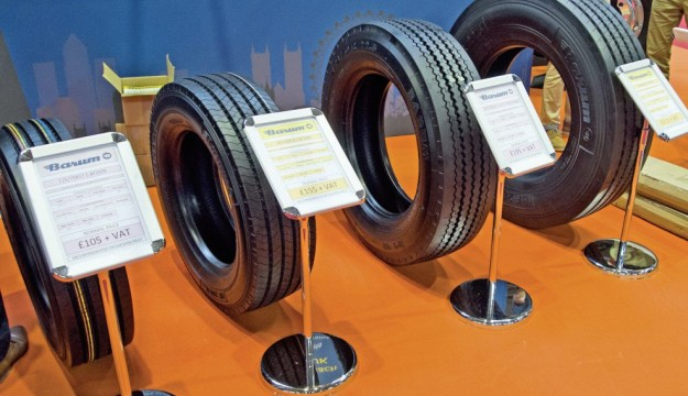 Just some of the tyres TD Tyres provides were displayed
