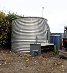 This biomass burner is to provide the energy for the new building