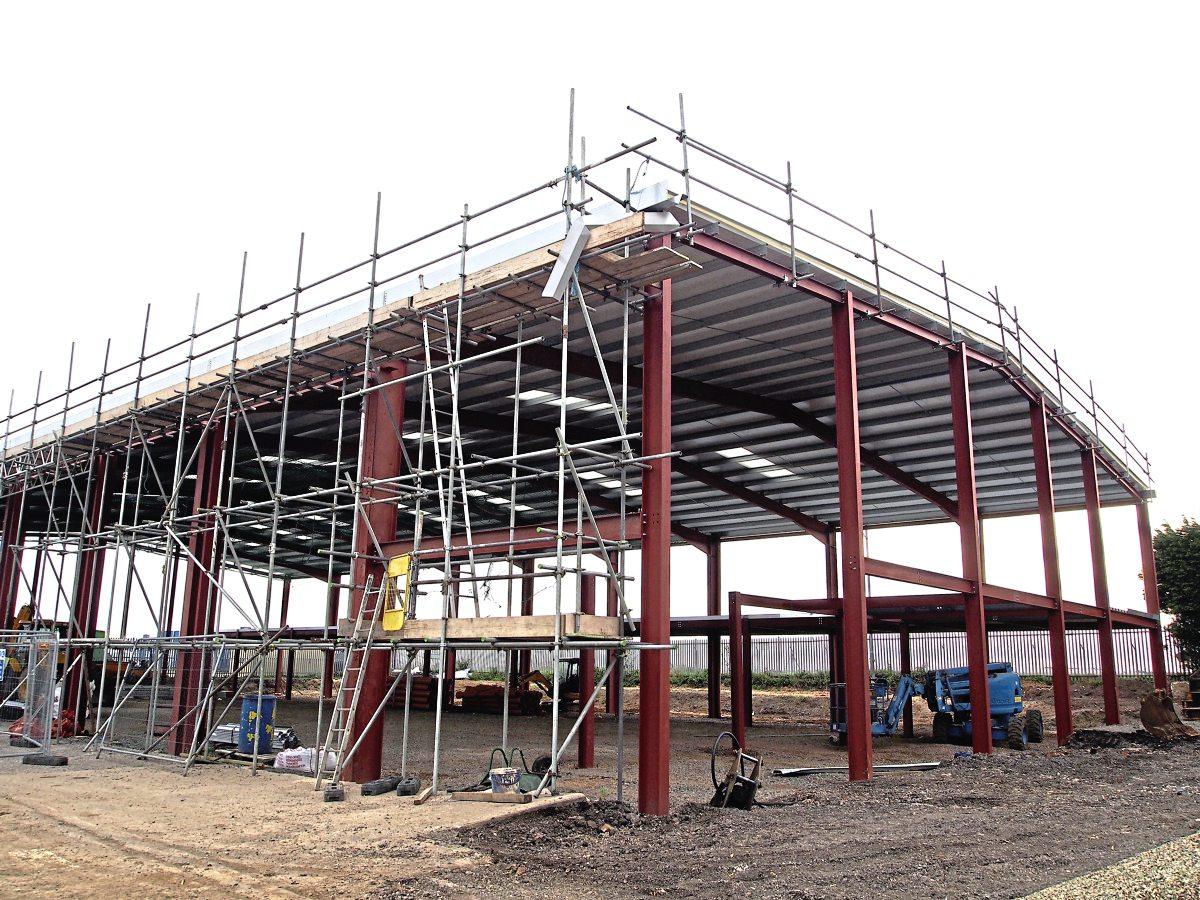 """Travel de Courcey's """"super depot"""" under construction"""