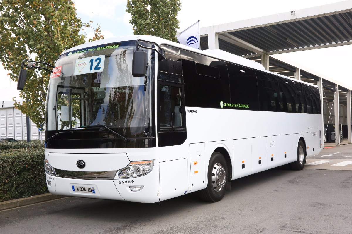 Yutong electric coach