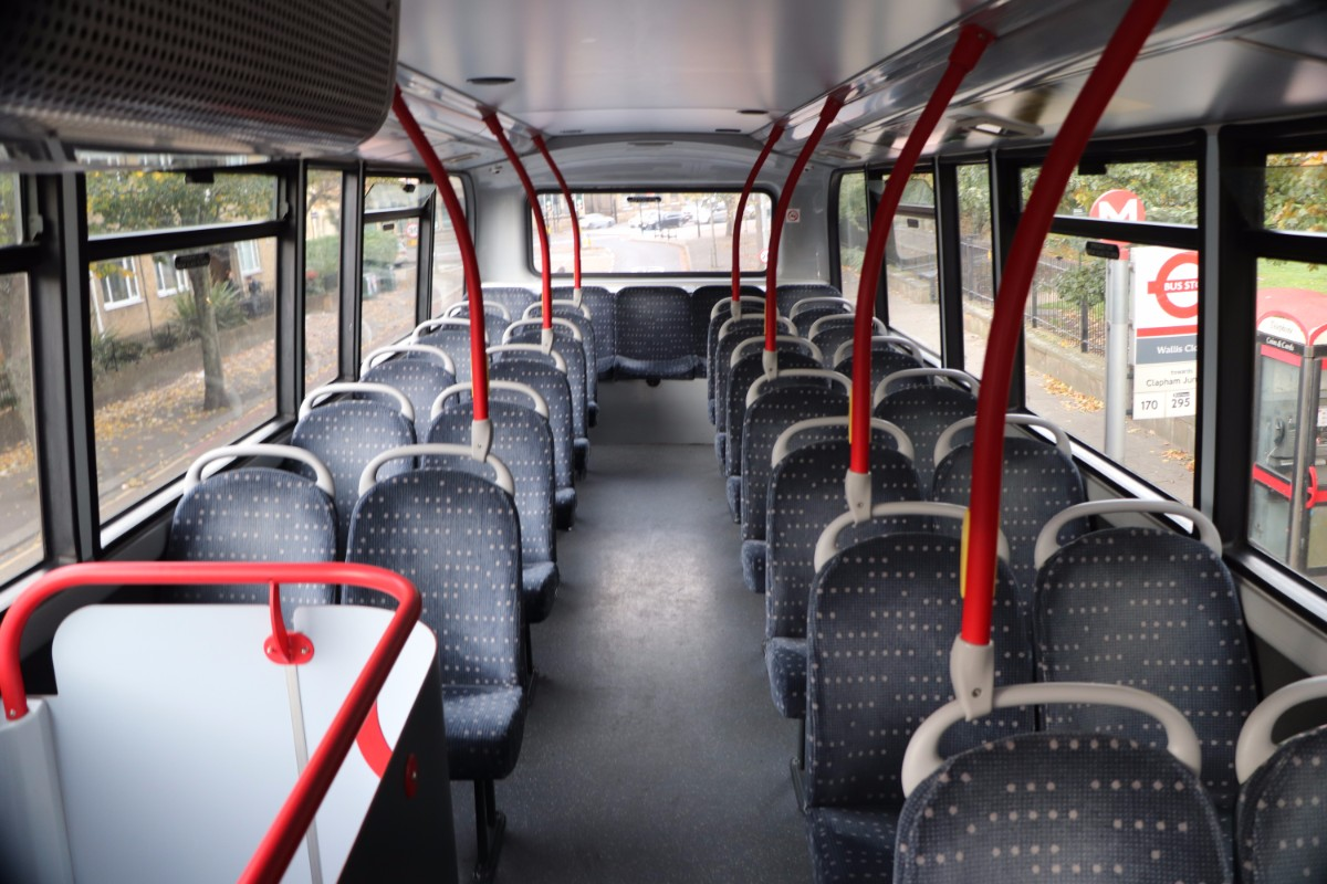The upper deck of the ADL Enviro400 on the C3 seemed especially well endowed with legroom