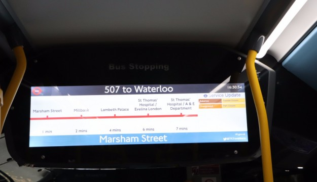 Great information provision on the 507. The bus was an ADL/BYD e-Bus