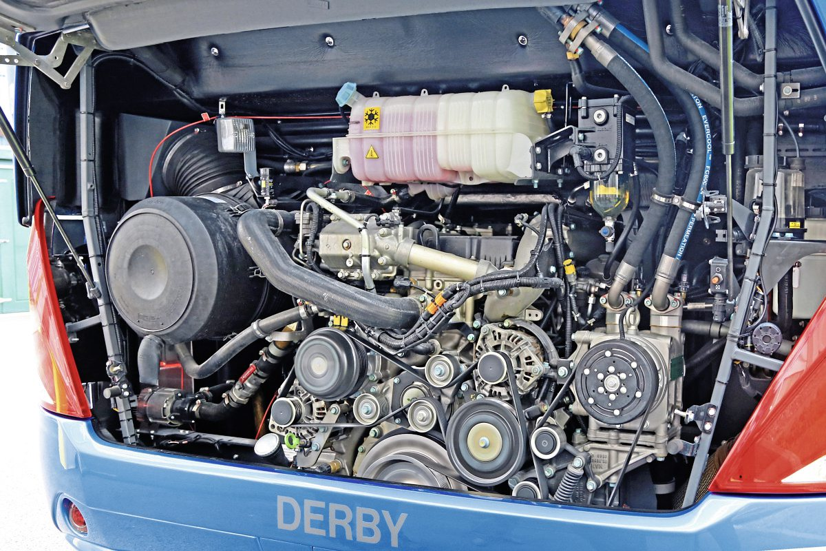 Power is provided by MAN's D2676LOH Euro6c engine rated at 460hp