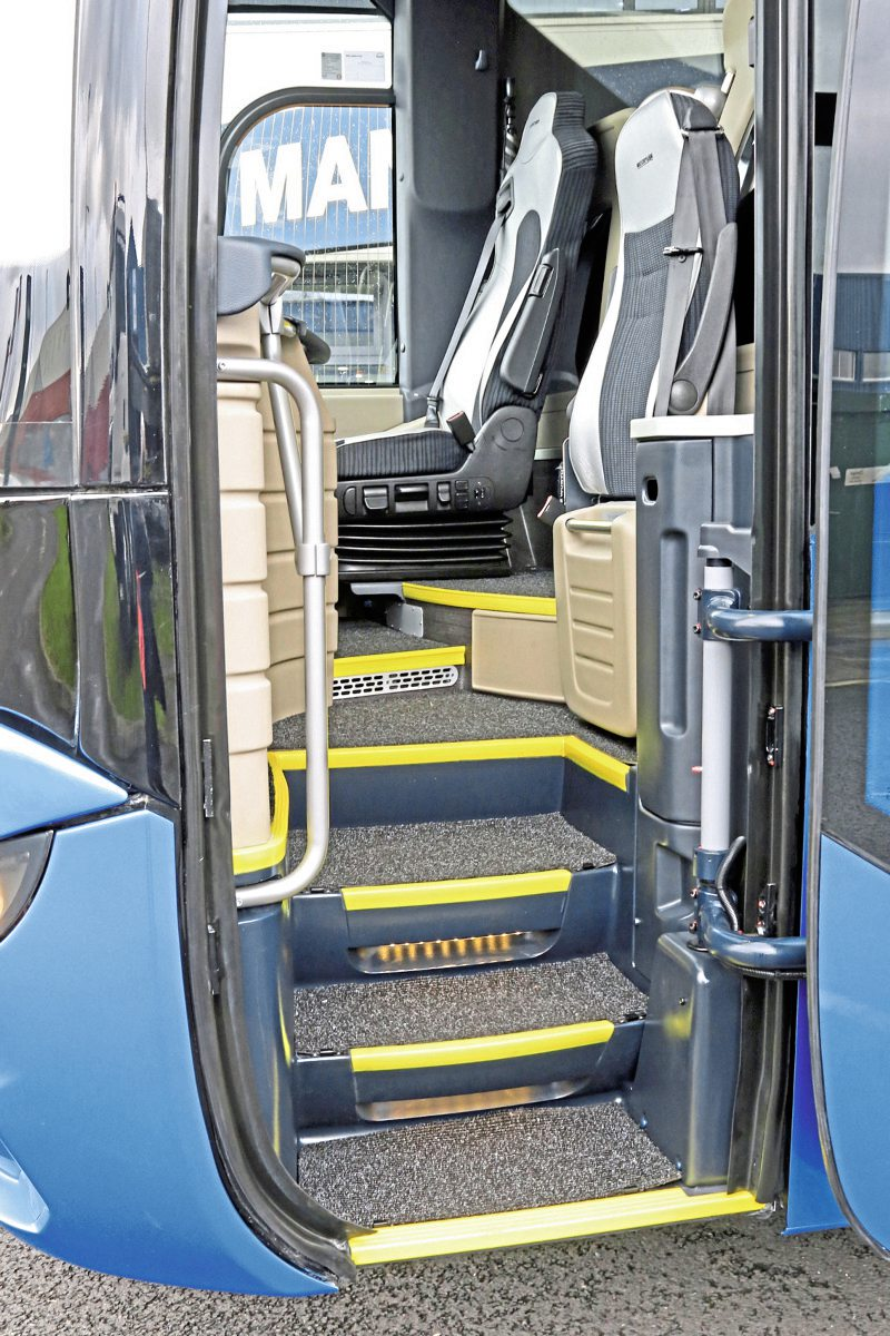 The new Tourliner features a redesigned and wider entrance