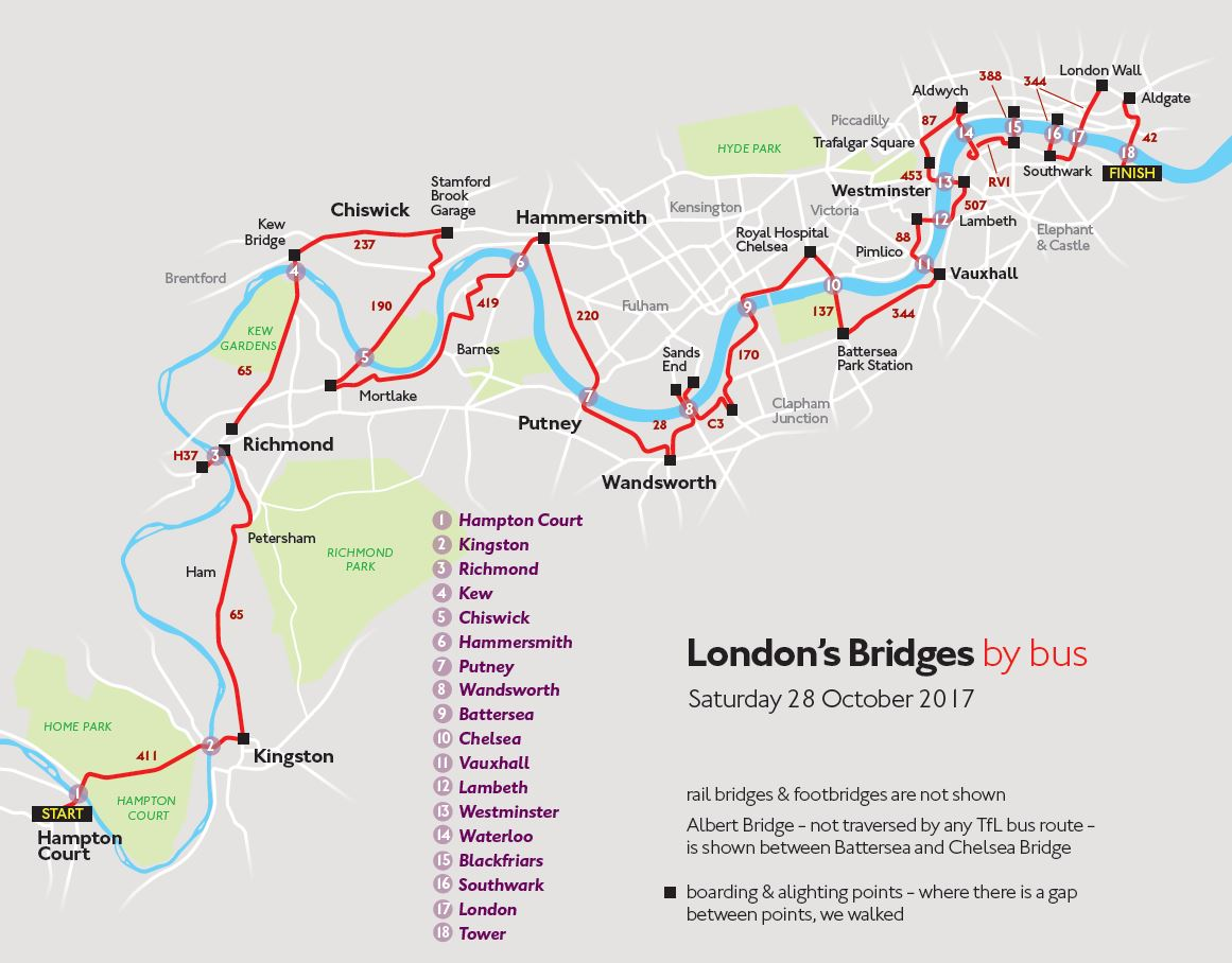 Map London Bridge.All London Bridges By Bus