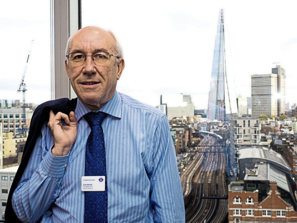 The Shard backdrops Leon's office - a fitting outlook for a man who says his knowledge of London geography has been key