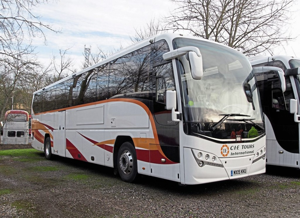 There were several of these CIE Tours International Volvo B11R Plaxton Panthers in the yard, priced at £194,500 at the time of writing