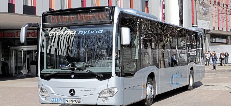 The latest diesel advance is the Hybrid Citaro, an example of which was present ferrying delegates between the launch venue and test track in Stuttgart