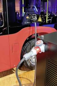 Charging uses the standard Combo 2 system. A bus range of 150km is being quoted for initial Electric Citaros