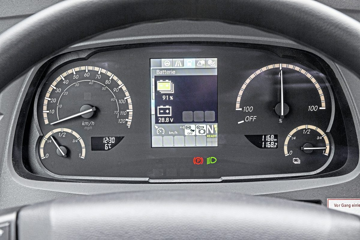 The revised dash display