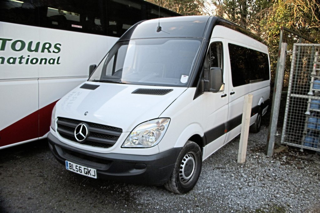 This 12-seat 56-plate Sprinter is a low mileage example