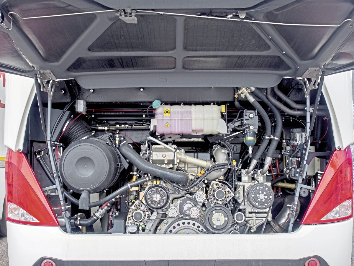 The 420bhp engine is well up to touring