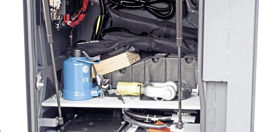 Battery locker has additional storage