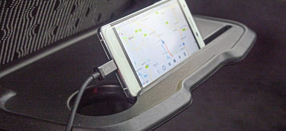 ...and a neat slot for tablets and smartphones
