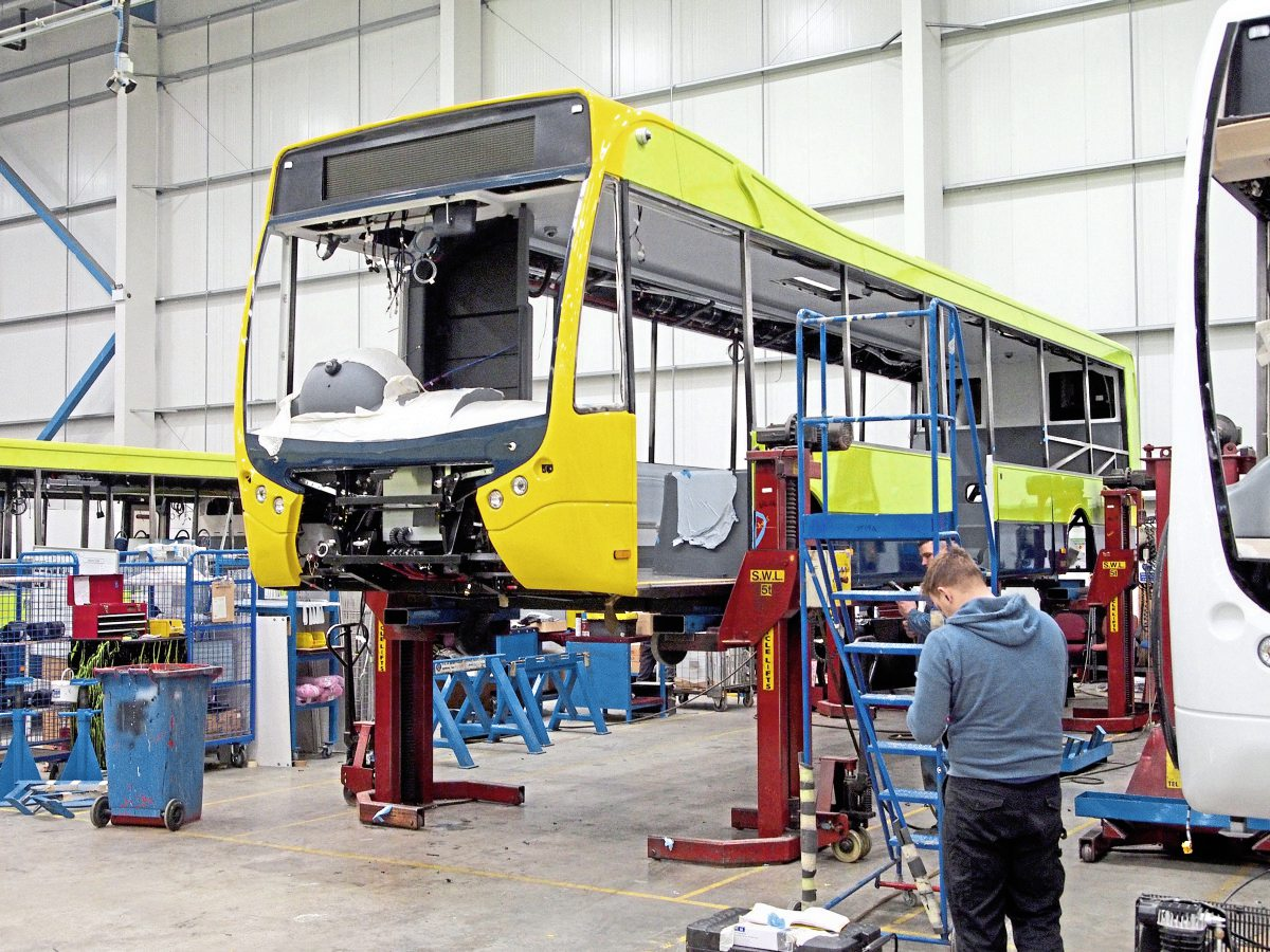 Column lifts are used to hoist the vehicle up for the fitment of wheels
