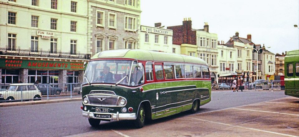 From the 1960s is this Bedford SB1 Duple Super Vega, new in May 1961. It was scrapped after a good long life in September 1981