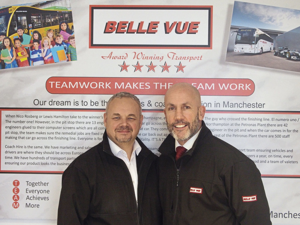 L to R - Ian Bragg and Philip Hitchen – fellow Directors at Belle Vue