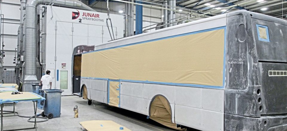 Once panels are all in place, the vehicle is prepared for the spraybooth for paintwork