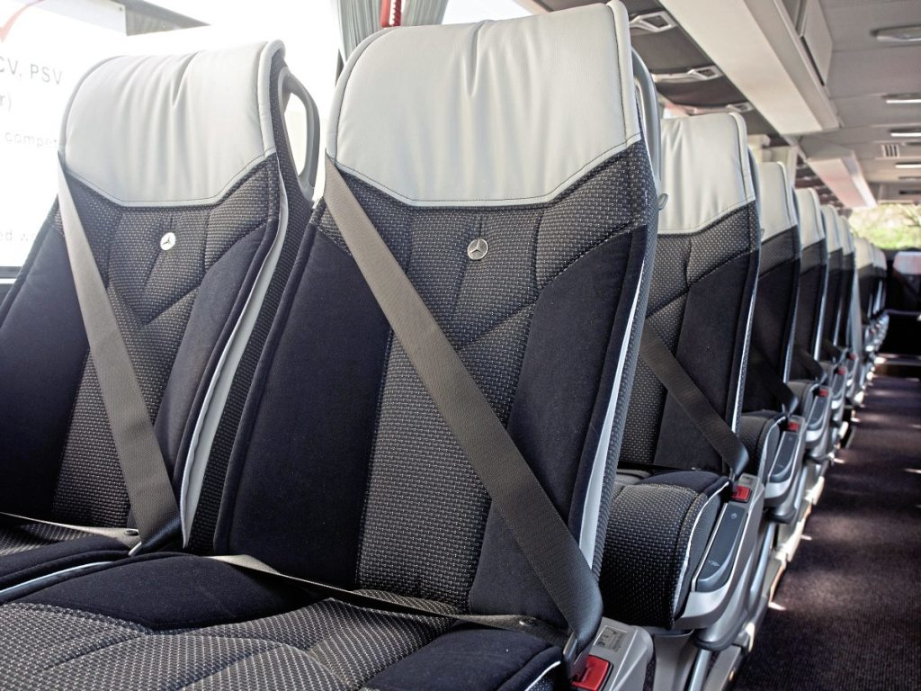 Quality interior of the new Tourismo - typical of the standard of CTT vehicles