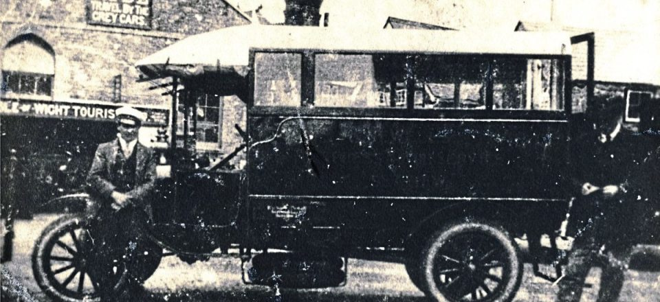 The first bus founder, Richard Newell, took on was a Ford Model T in 1922, probably rebodied from a 1918 charabanc, which in turn had been rebodied from a WW1 ambulance