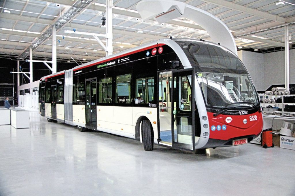 One of a batch of ieTrams for TMB Barcelona that will begin operation in early June
