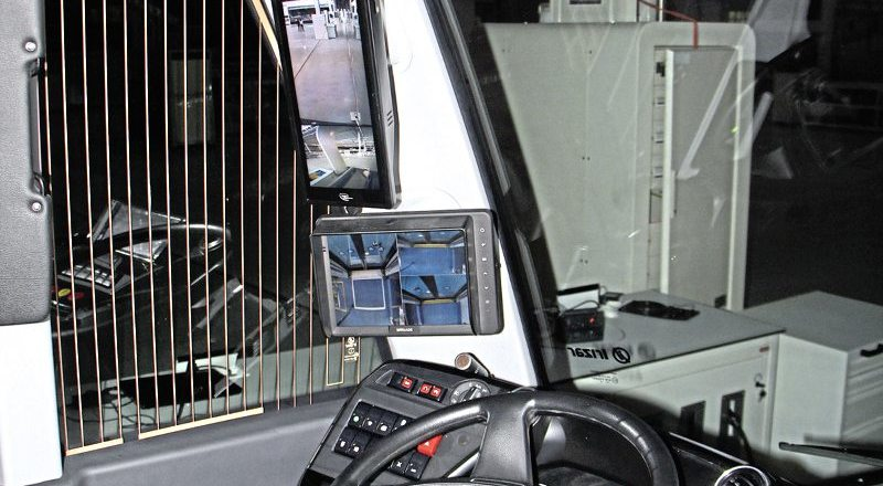 The ieTram is certified to use mirrors and screens in place of conventional mirrors