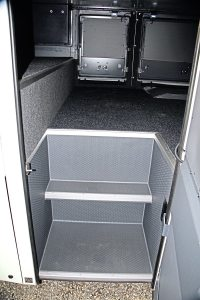 A change on the double deck Futura FDD2 is in the luggage hold where access is much improved