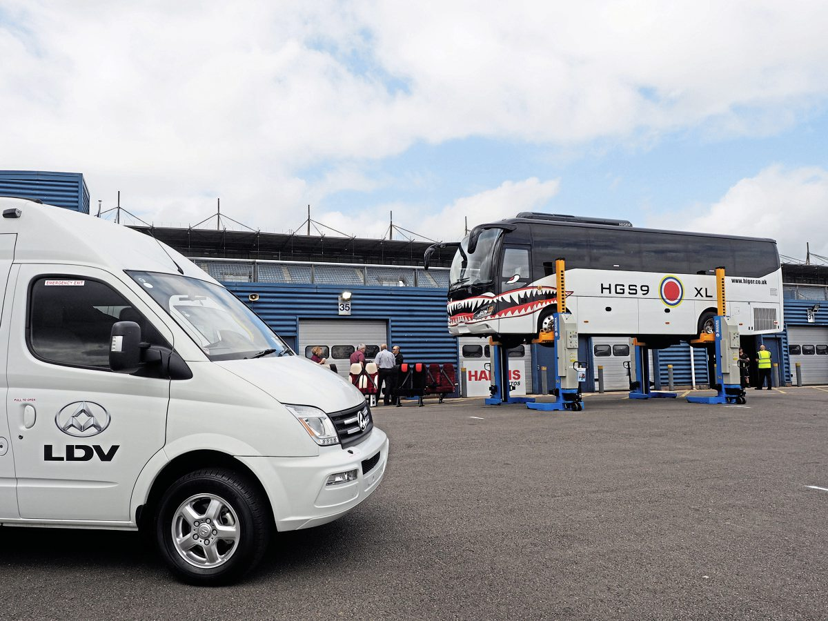 Both the Higer Super 9XL and the LDV range of minibuses gave operators at Rockingham Motor Speedway plenty to see... and drive