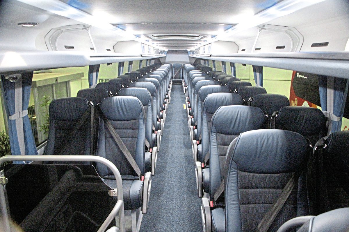 Seating is provided for 65 passengers on the upper deck