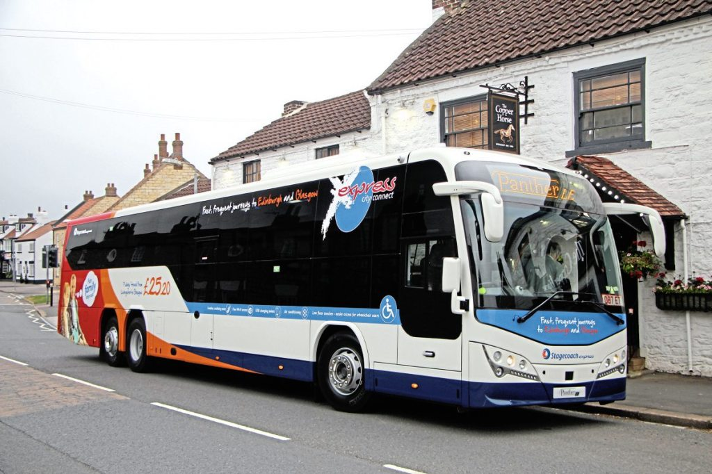 At 14.6m long, the Panther LE offers 53 seats and a spacious wheelchair bay. As it is Class 3 no standees are permitted, though were a Class 2 certified version to be developed it could provide room for 17 standing passengers