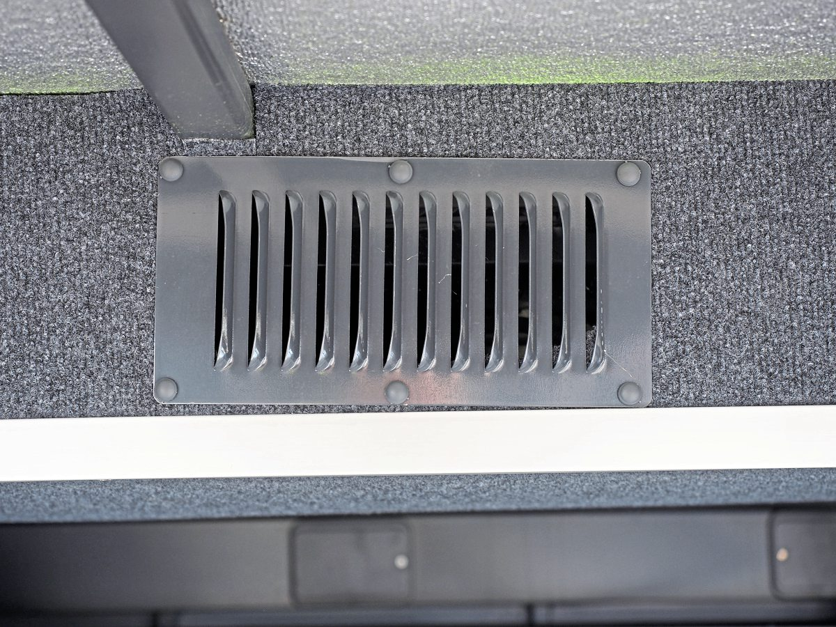 Luggage lockers are vented