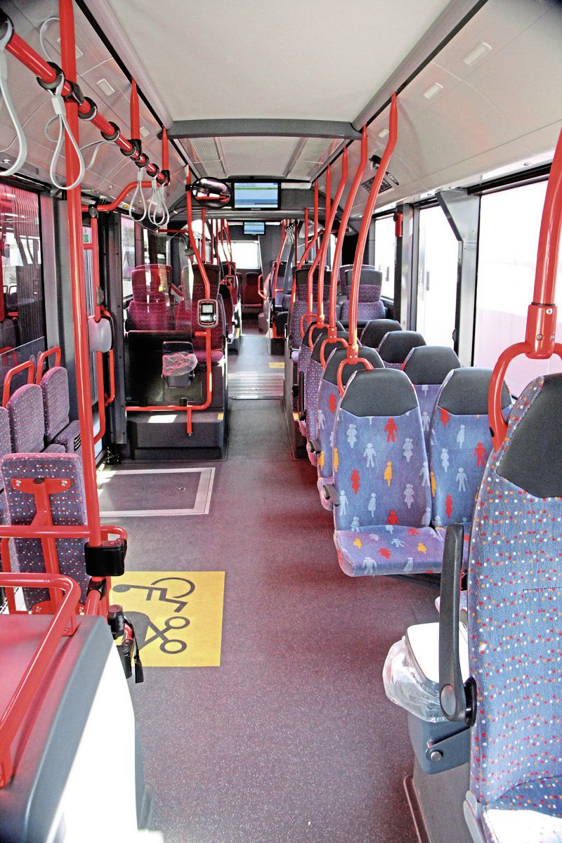 The interior of one of the R Net VDL Citea SLFAs