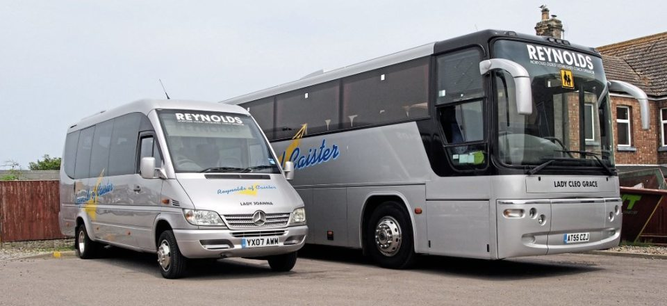 A Mercedes-Benz 413 CDI Soroco provides a smaller option for Reynolds customers, in addition to the larger Plaxtons it has available
