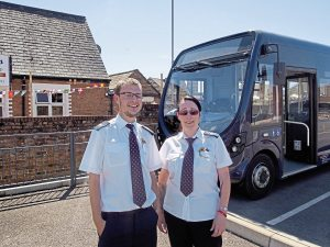 Former Stagecoach drivers, Bradley Williams and Katrina Newnham have joined WNCTP following the withdrawal of the national operator's routes in the area