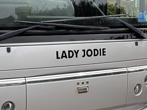 Reynolds' fleet bear ladies' names such as Lady Jodie