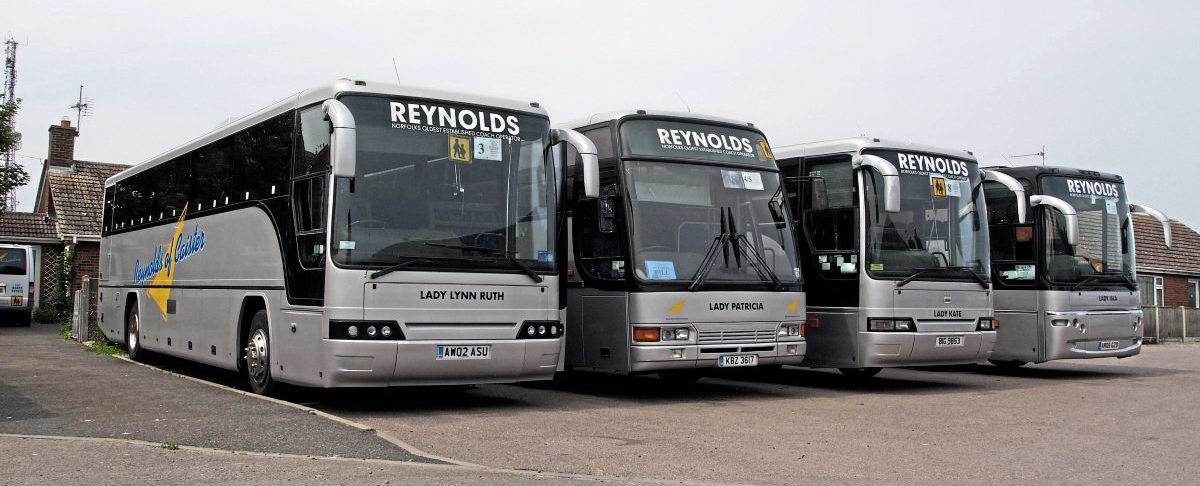 Some of the coaches in the fleet. Malcolm Harrison is to auction the vehicles on 11 August