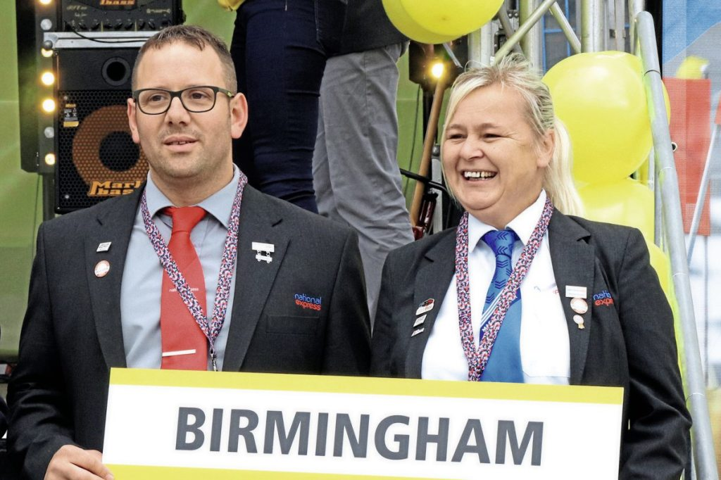 The Birmingham team, Liam Bishop and Louise Hewins