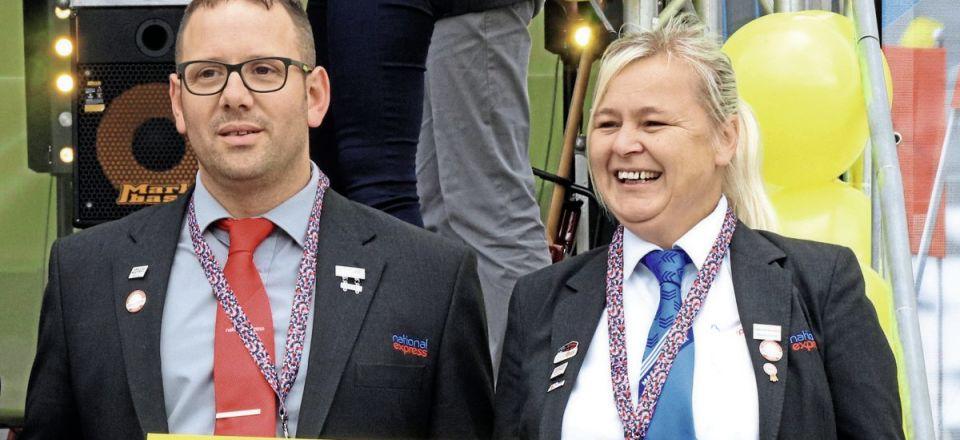 The Birmingham team, Liam Bishop and Louise Hewins