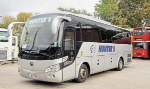 "Hunter's Yutong TC9 - ""We find it's a nice vehicle,"" said Ray"