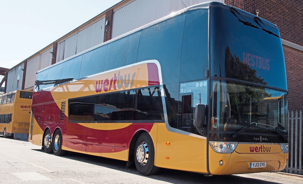 A Van Hool TX 25 Astromega. One of several Van Hools in its fleet
