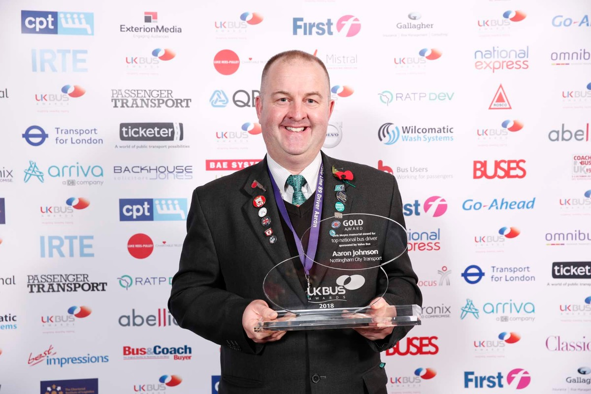 Top National Bus Driver, Aaron Johnson (NCT)