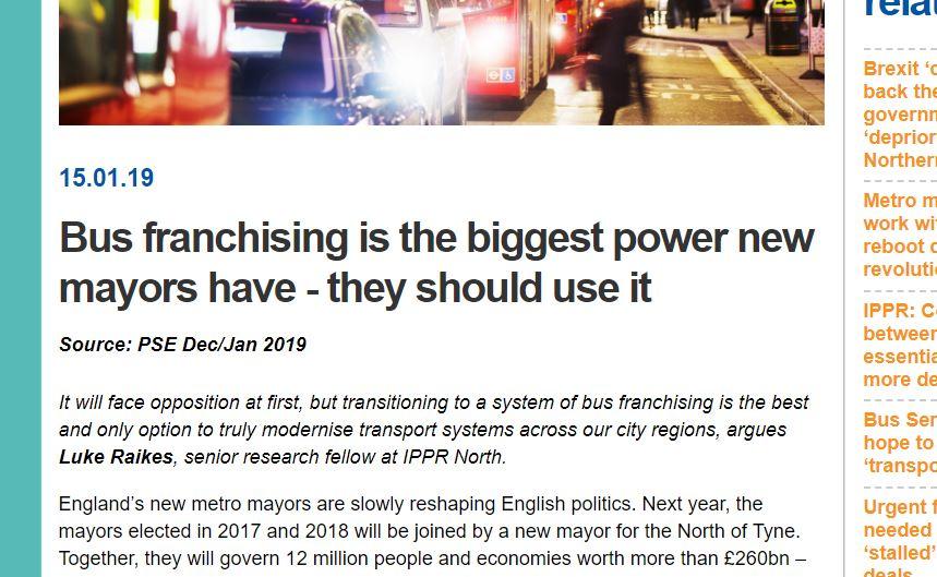 Bus franchising; a response